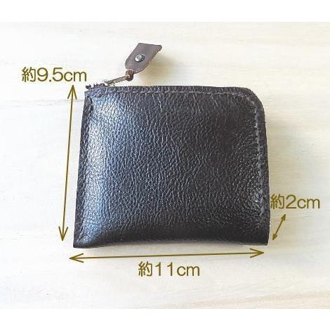 牛革コンパクト財布2色 ハーフウォレット L字ラウンド メンズ・レディース兼用|kitaebisu|03