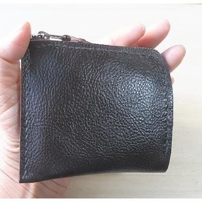 牛革コンパクト財布2色 ハーフウォレット L字ラウンド メンズ・レディース兼用|kitaebisu|04