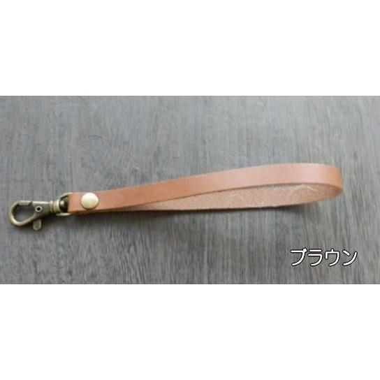 袋型ヌメ革ハンドストラップ 全長約19cm サッと手を通して使えるカメラストラップ|kitaebisu|03