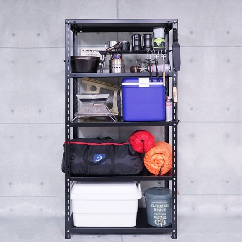 スチールラック スチール棚 業務用 収納 NC-1800-18 幅180×奥行45×高さ180cm 5段 ホワイト ブラック|kitajimasteel|04