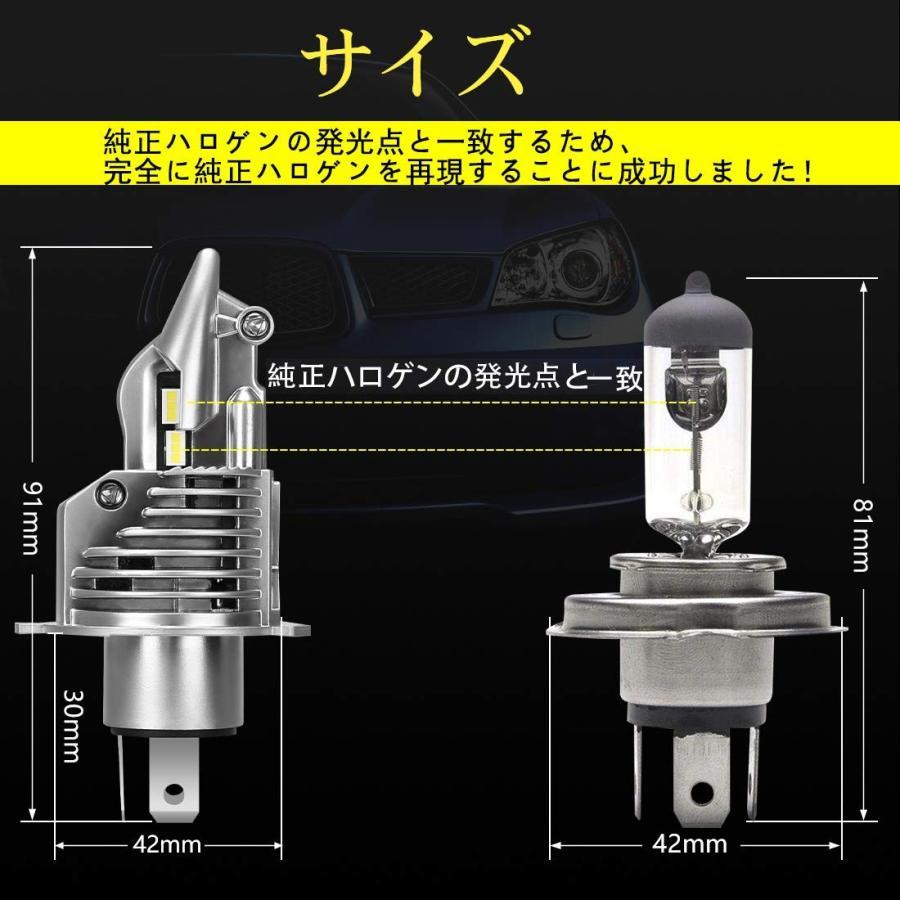 訳あり品!H4 LED ヘッドライト Hi/Lo 新車検対応 車/バイク用 16000LM(8000LM*2) kitazawashouji 04