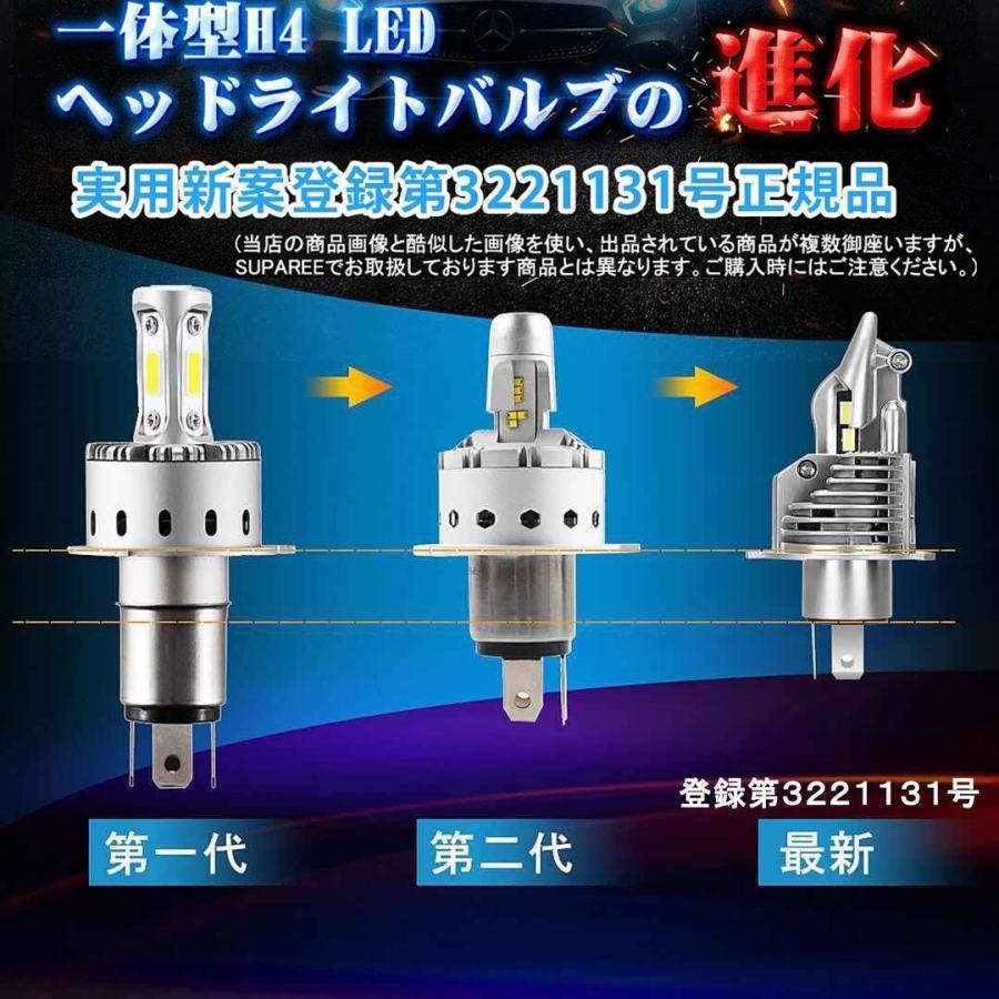 訳あり品!H4 LED ヘッドライト Hi/Lo 新車検対応 車/バイク用 16000LM(8000LM*2) kitazawashouji 05