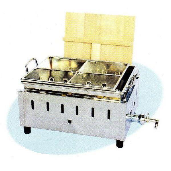 送料無料 新品 湯煎式おでん鍋(4ツ仕切) W430×D340×H240 WK-13