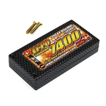 イーグル模型 Li-Poバッテリー EA7400R/3.7V 80C+α ハードケース仕様 品番3838V2|kite