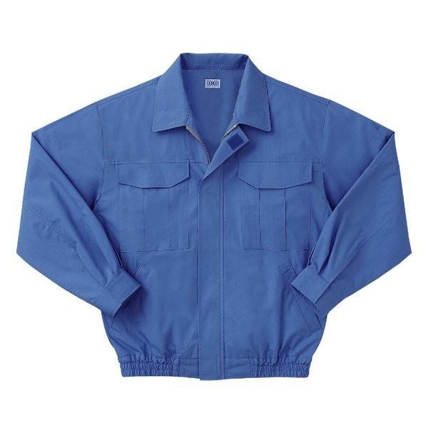 【直送】空調服 綿薄手長袖作業着 M-500U 〔カラーライトブルー: サイズL〕 電池ボックスセット