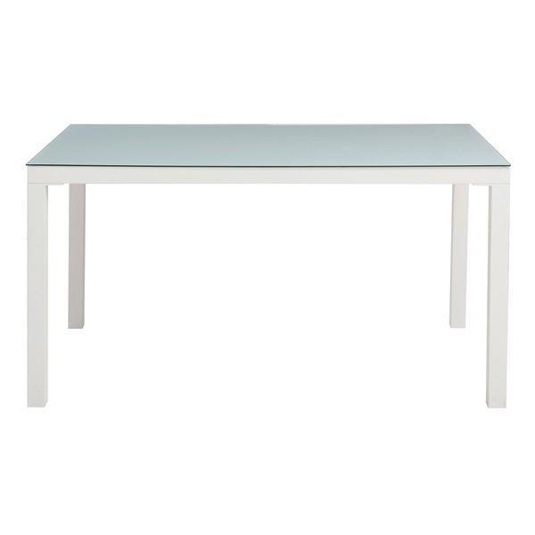 【直送】あずま工芸 TOCOM interior(トコムインテリア) ダイニングテーブル 強化ガラス天板 135×80cm〔2梱包〕 ホワイト GDT-7631