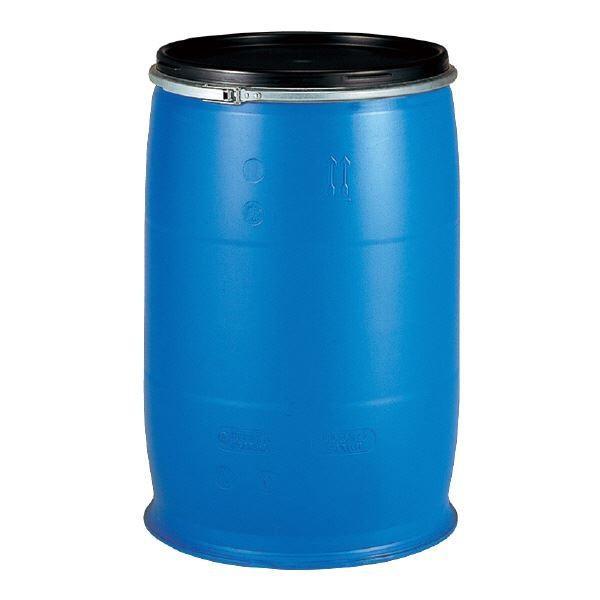 【直送】三甲(サンコー) 液体輸送用プラスチックドラム 〔オープンタイプ〕 PDO 200L-2 UN認定 ブルー(青)