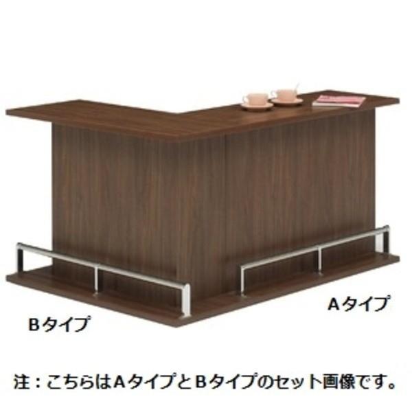 【直送】バーカウンター/カウンターテーブル 〔B-type 単品〕 幅120cm 日本製 ダークブラウン 〔CABA〕キャバ 〔完成品 開梱設置〕