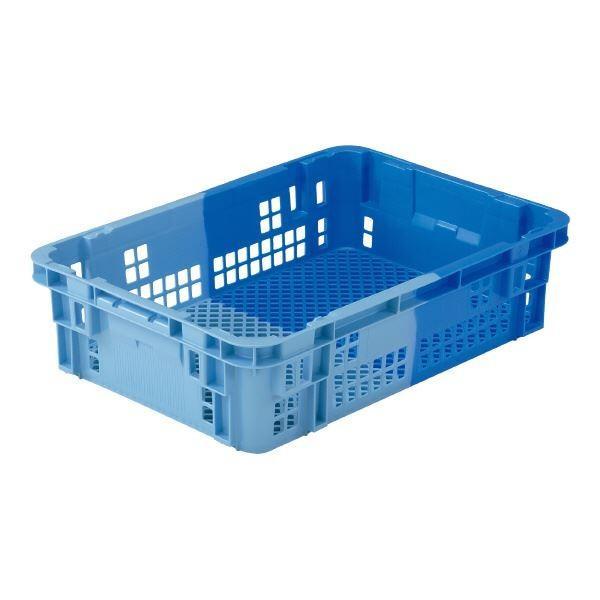 【直送】(業務用5個セット)三甲(サンコー) SNコンテナ/2色コンテナボックス 〔Cタイプ〕 #35 ブルー×ライトブルー