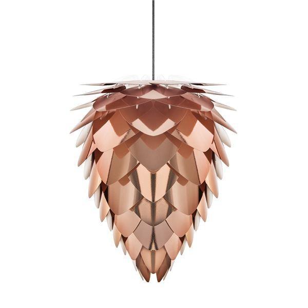 【直送】ペンダントライト/照明器具 〔1灯〕 北欧 ELUX(エルックス) VITA Conia copper ブラックコード 〔電球別売〕