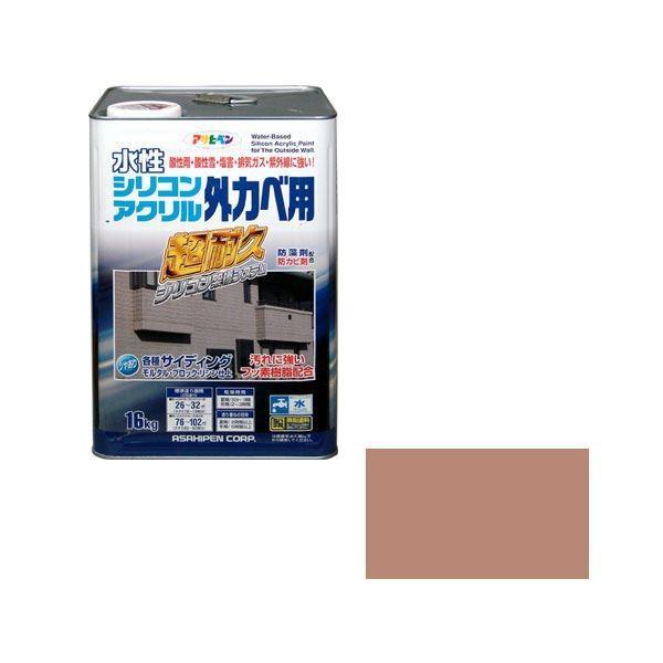 【直送】アサヒペン AP 水性シリコンアクリル外かべ用 16KG ソフトオーカー