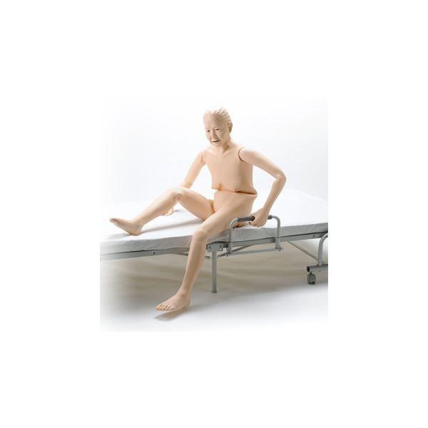 【直送】お年寄り介護モデル/看護実習モデル人形 〔小春さん〕 シリコン製 防水 義歯取りはずし可 M-100-5