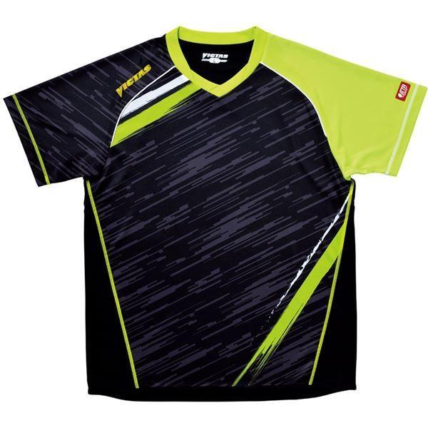 【直送】ヤマト卓球 VICTAS(ヴィクタス) 卓球アパレル V-SW036 ゲームシャツ(男女兼用) 031459 ライム XXOサイズ