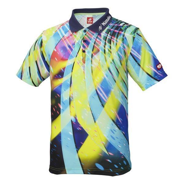 【直送】ニッタク(Nittaku) 卓球アパレル SPINADO SHIRT(スピネードシャツ) ゲームシャツ(男女兼用) NW2176 ネイビー M