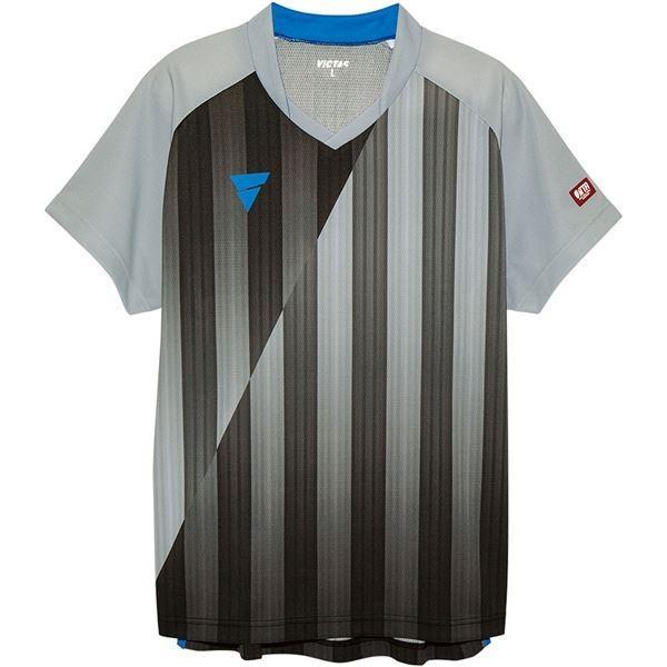 【直送】VICTAS(ヴィクタス) VICTAS V‐NGS052 ユニセックス ゲームシャツ 31467 グレー 3XL