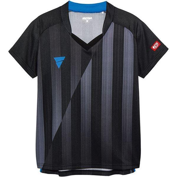 【直送】VICTAS(ヴィクタス) VICTAS V‐LS054 レディース ゲームシャツ 31468 ブラック XS