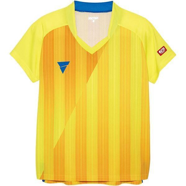【直送】VICTAS(ヴィクタス) VICTAS V‐LS054 レディース ゲームシャツ 31468 イエロー 2XL
