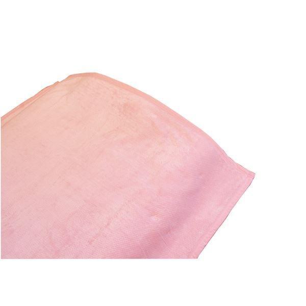 【直送】ロング 毛布/寝具 〔ピンク 〔ピンク 140×210cm〕 洗える 綿100% 日本製 泉大津産 オールシーズン対応 〔ベッドルーム 寝室〕