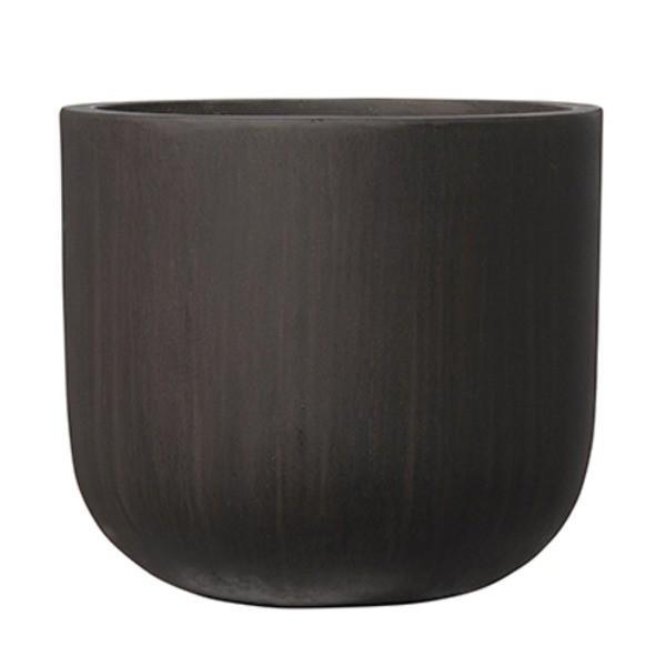 【直送】ファイバーセメント製 軽量植木鉢 オーク Uポット アンティークブラウン 40cm 植木鉢