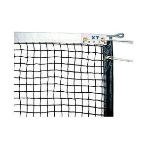 【直送】KTネット 全天候式無結節 硬式テニスネット サイドポール挿入式 センターストラップ付き 日本製 〔サイズ:12.65×1.07m〕 ブラック KT223