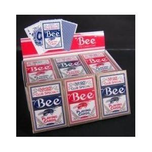 【直送】Bee (ビー) [ポーカーサイズ] 〔レッド6 / ブルー6〕 1ダース
