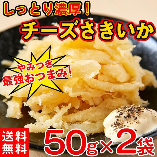 さきいか 濃厚チーズ 珍味 おつまみ ポイント消化 送料無料 食品 50g×2袋 〔ゆうメール出荷〕〔発送まで1〜2週間〕|kiwami-honpo