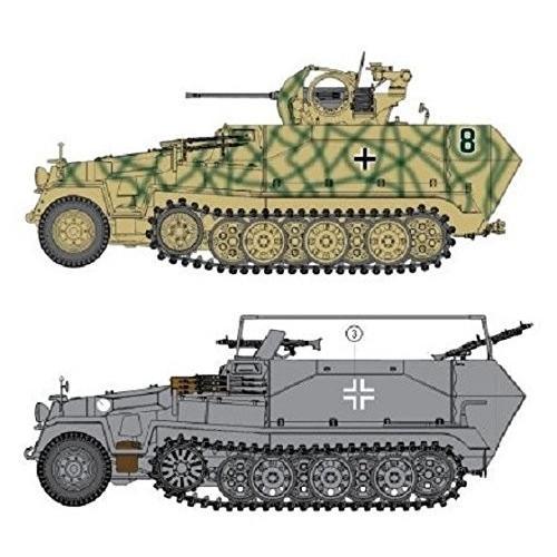 CH6592 1/35スケールプラモデル ドイツ Sd.Kfz.251/17 C型 対空自走砲/コマンドバージョン (2in1)