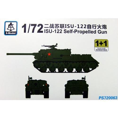 S-model PS720063 1//72 ISU-122 Self-Propelled Gun 1+1