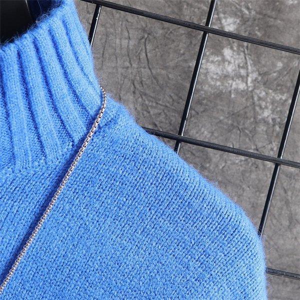 長袖ニットメンズモックネックニット長袖セーターニットソー無地インナーカジュアル秋服メンズファッション|kj1210|13