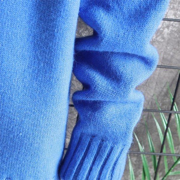 長袖ニットメンズモックネックニット長袖セーターニットソー無地インナーカジュアル秋服メンズファッション|kj1210|16