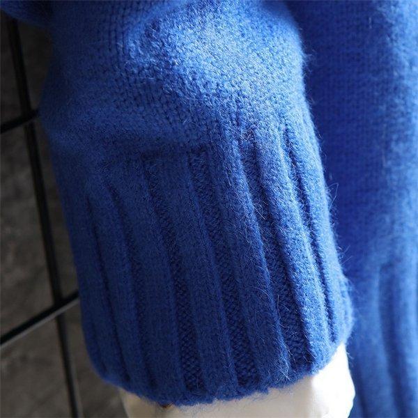 長袖ニットメンズモックネックニット長袖セーターニットソー無地インナーカジュアル秋服メンズファッション|kj1210|18
