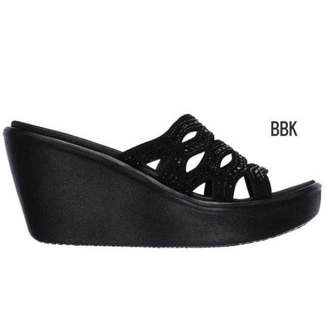 スケッチャーズ SKECHERS 33474 RUMBLE UP - FUNNY BUSINESS サンダル ウエッジ 厚底 レディース 婦人 BBK ブラック/ブラック BLK ブラック 靴 kksimple 02
