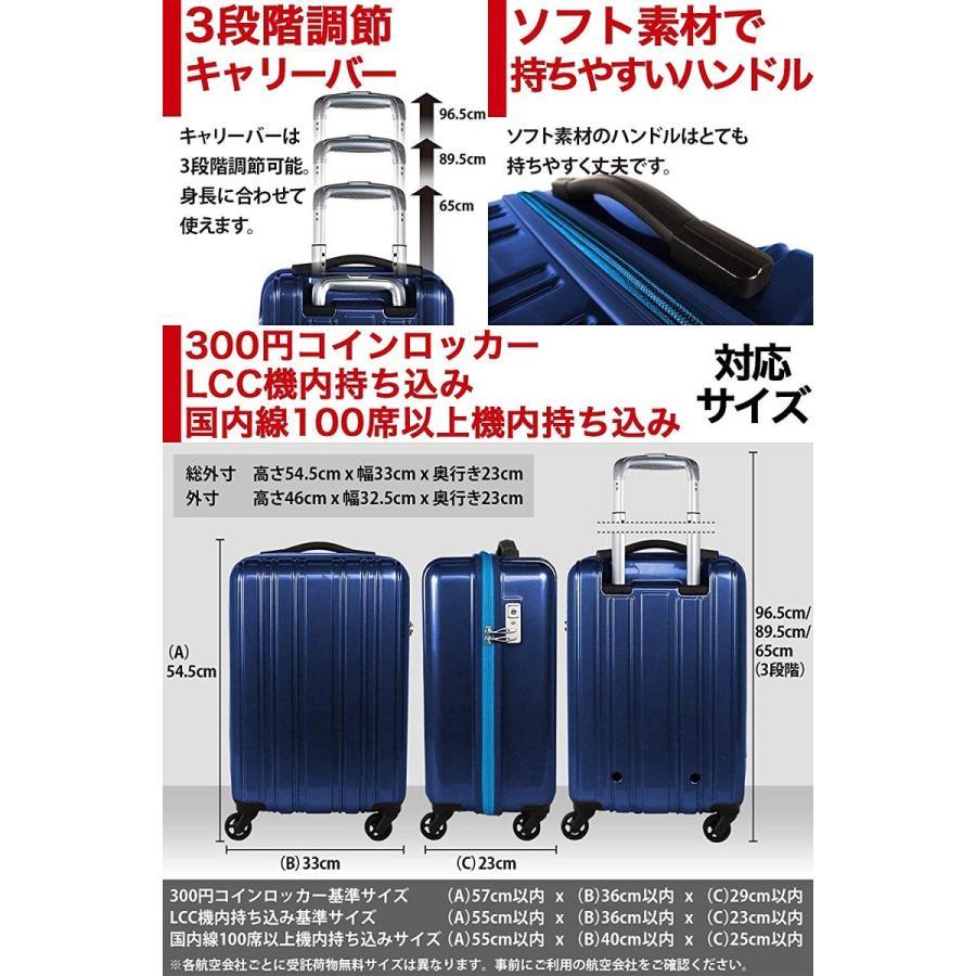 超軽量 キャリーケース キャリーバッグ sサイズ 機内持ち込み 日乃本製 キャスター ポリカーボネート スーツケース 1.9kg 小型 LCC コインロッカー 静音 キャス klasio 05