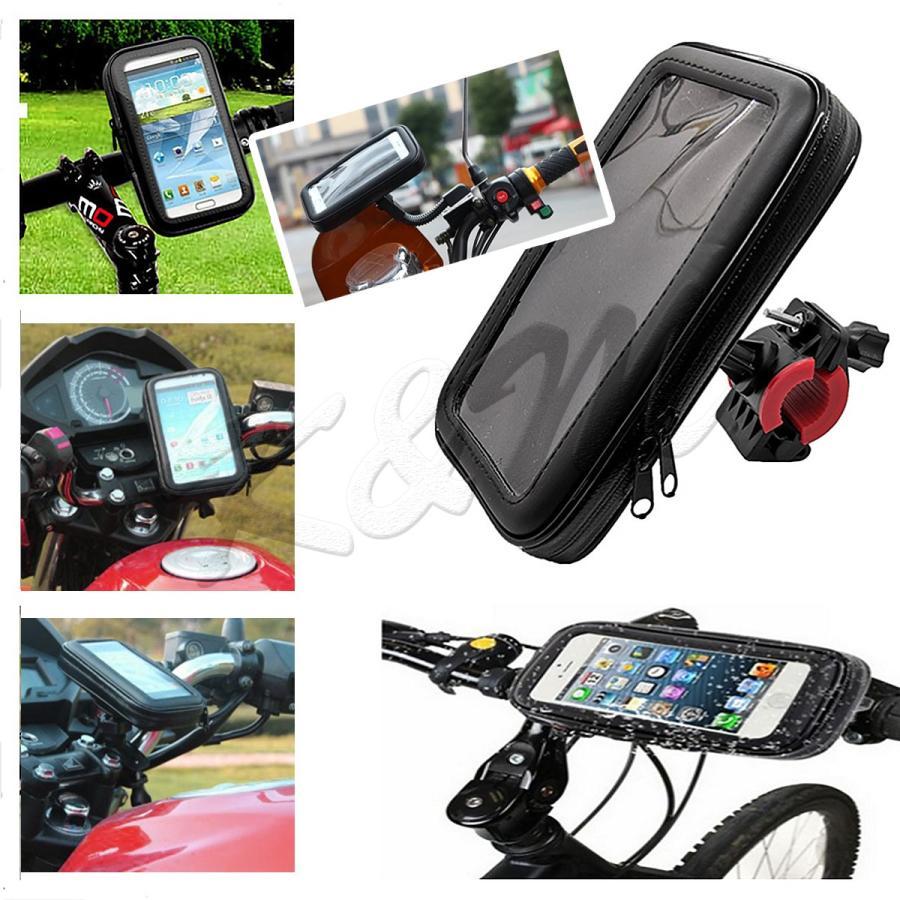 防水スマホホルダー 自転車 バイク 2Way 選べる2サイズ M/Lサイズ iPhone 8 Plus/XS MAX/XR対応 1ヶ月保証 km-serv1ce 03