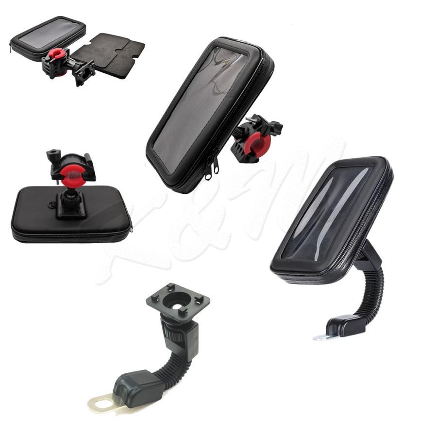 防水スマホホルダー 自転車 バイク 2Way 選べる2サイズ M/Lサイズ iPhone 8 Plus/XS MAX/XR対応 1ヶ月保証 km-serv1ce 08