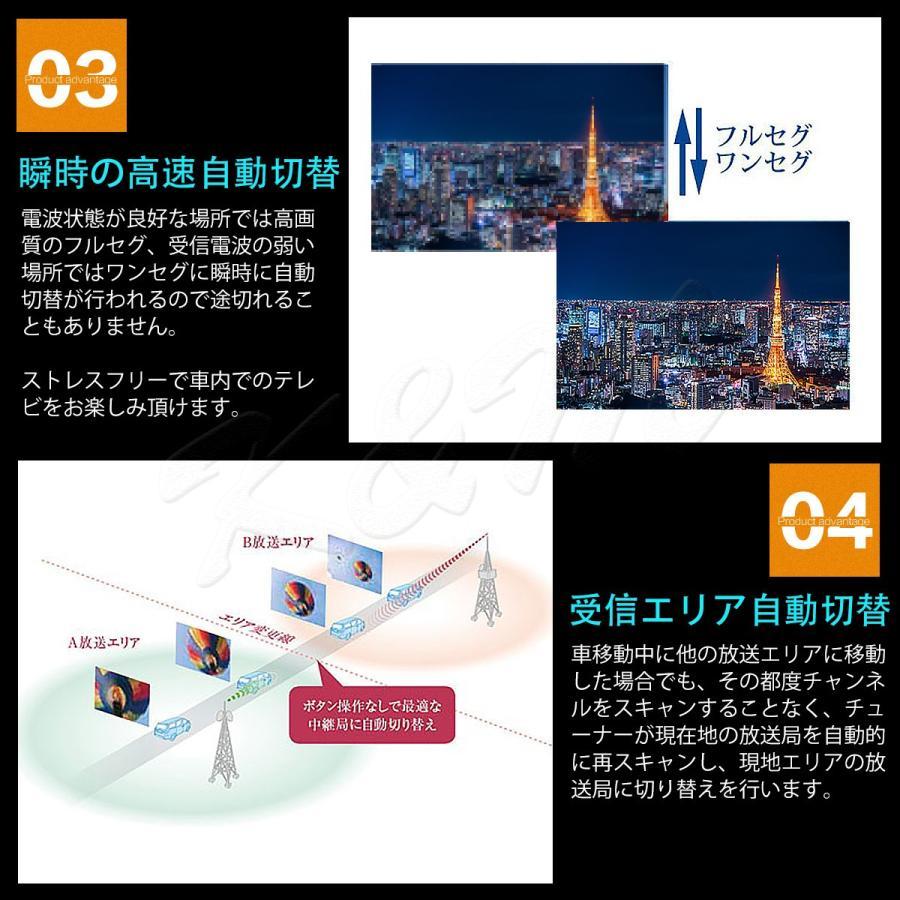 地デジチューナー カーナビ ワンセグ フルセグ HDMI 4x4 4チューナー 4アンテナ 高性能 高画質 TV 車載 miniB-CASカード付き 1年保証|km-serv1ce|05