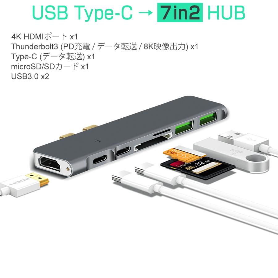 USB Type-C ハブ 8in1 USB3.0x3 4K 8K出力 HDMI Thunderbolt3 40Gbps PD充電 microSD SDスロット 拡張 変換 MacBook ChromeBook 3ヶ月保証|km-serv1ce