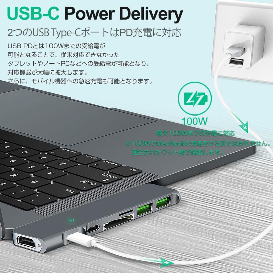 USB Type-C ハブ 8in1 USB3.0x3 4K 8K出力 HDMI Thunderbolt3 40Gbps PD充電 microSD SDスロット 拡張 変換 MacBook ChromeBook 3ヶ月保証|km-serv1ce|08