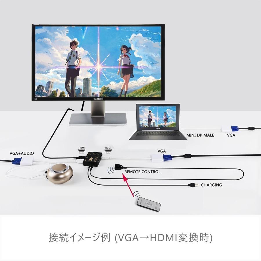HDMI セレクター 分配器 切替器 fire tv stick 5入力1出力 4K 2K FHD対応 3D映像対応 USB給電ケーブル リモコン付き TV PC等に対応 1ヶ月保証|km-serv1ce|05