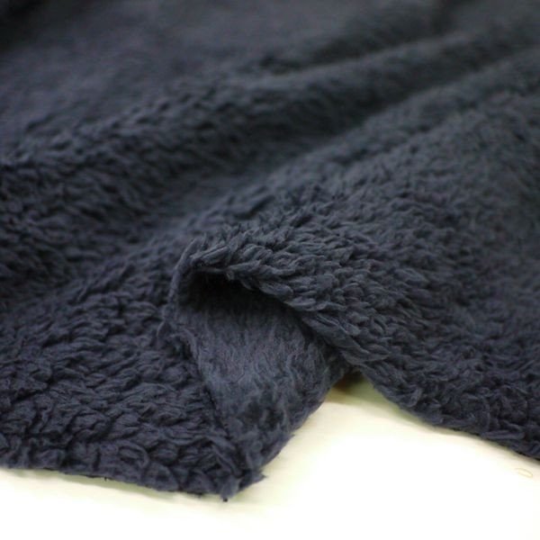 ムックボア(ボアフリース) ネイビー 毛足の長いフリース生地 ニット生地 knit-yamanokko 03