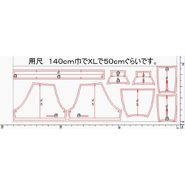 型紙  メンズ ボクサーパンツ ニット生地向けカット済みパターン knit-yamanokko 05