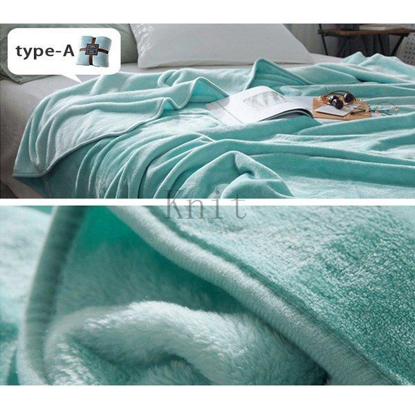 ブランケットダブルサイズ北欧ベイクドカラー無地マイクロファイバーフリースふわふわ毛布寝具おしゃれ暖かい薄手軽量洗える|knit|15