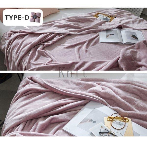 ブランケットダブルサイズ北欧ベイクドカラー無地マイクロファイバーフリースふわふわ毛布寝具おしゃれ暖かい薄手軽量洗える|knit|18