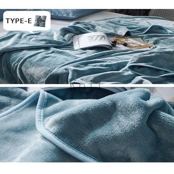 ブランケットダブルサイズ北欧ベイクドカラー無地マイクロファイバーフリースふわふわ毛布寝具おしゃれ暖かい薄手軽量洗える|knit|19