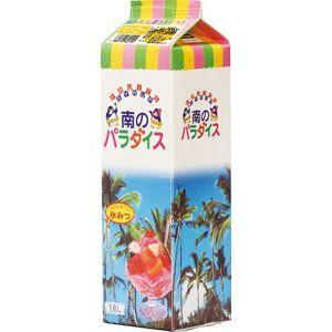【SALE】かき氷シロップ 「南のパラダイス」 マンゴー 天然色素果汁20%、合成甘味料保存料不添加1800mL_ハニー製|ko-ricom