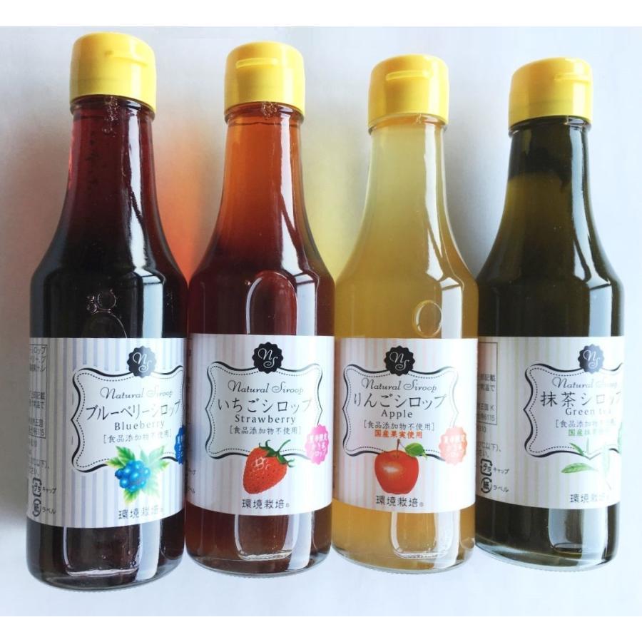 無添加 かき氷シロップ いちご りんご ブルーベリー 抹茶 4本 セット 信州自然王国|ko-ricom