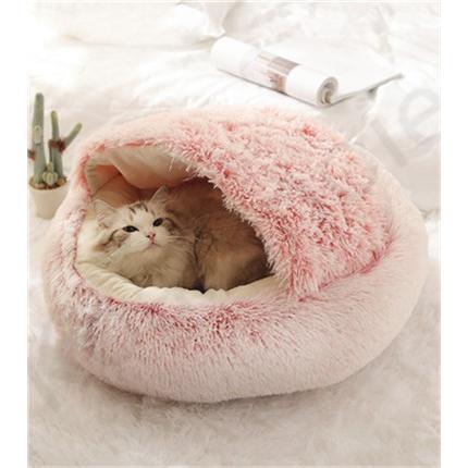 ペットハウス ペットベッド 猫ベッド 猫用ベッド ネコベッド ペット用品 暖かい ベッド ねこ用ベッド おしゃれ テント型 冬用|koaranoie