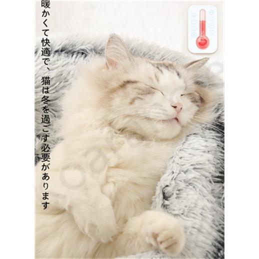 ペットハウス ペットベッド 猫ベッド 猫用ベッド ネコベッド ペット用品 暖かい ベッド ねこ用ベッド おしゃれ テント型 冬用|koaranoie|03