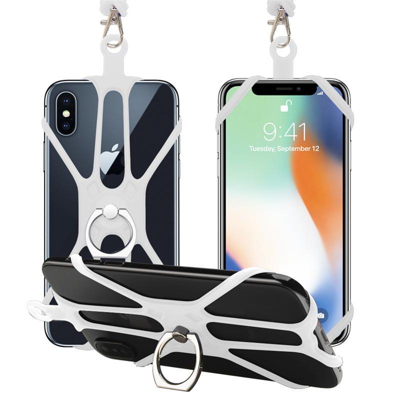 スマホ ネックストラップ シリコン 首掛け 固定 ホルダー 携帯 スマートフォン ビジネス アウトドア 落下防止 スマホアクセサリー ストラップ kobayashiya 16