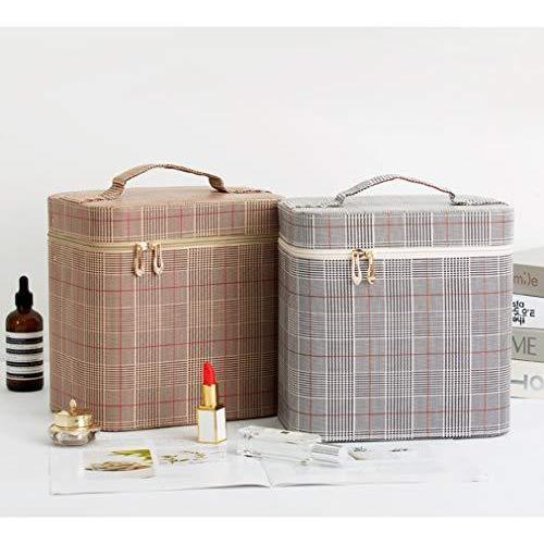 SZTulip コスメボックス メイクボックス 大容量メイクケース 化粧品収納ケース 小物入れ 鏡付き 化粧箱 (コーヒ?|koberesale-shop|06